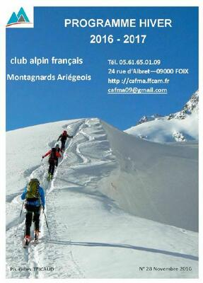 Programme hiver CAFMA n° 28